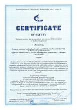 Certificate of safety<br>Chronolong Food supplement Chronolong, 30 capsules