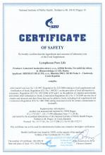 Certificate of safety<br>Lymphosan Pure Life БАД Lymphosan Pure Life, 90 г