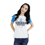 Siberian Super Team CLASSIC T-shirt for women (color: white, size: S) 107012